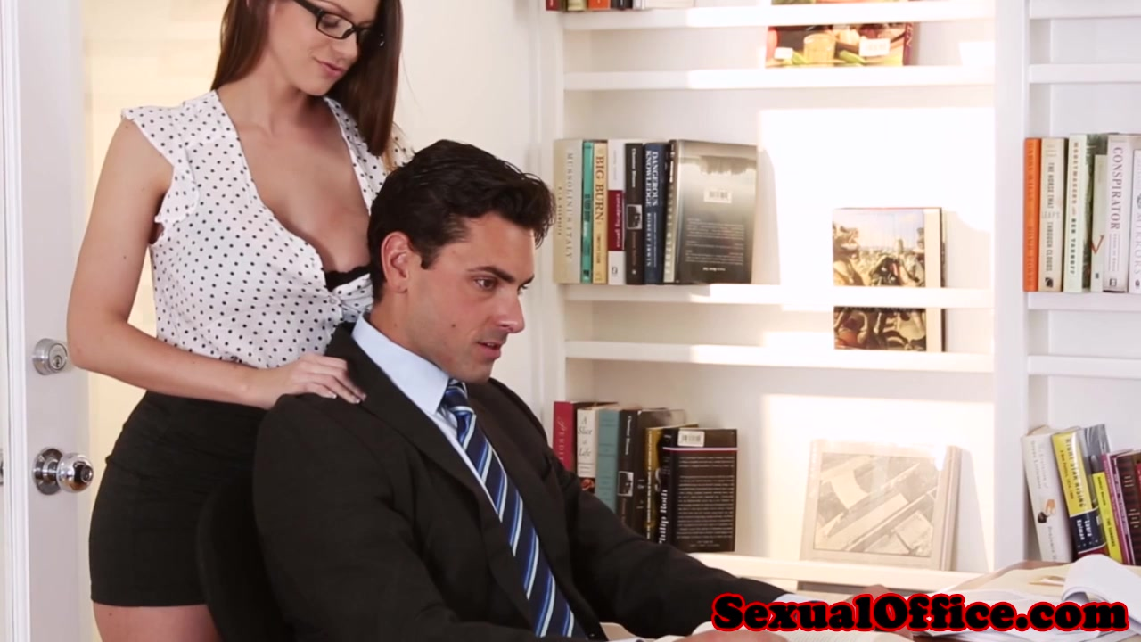 Glasses wearing office babe Brooklyn Chase taking cumshot on big tits № 1608342 бесплатно